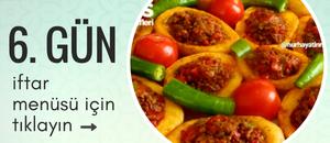 6. gün iftar menüsü