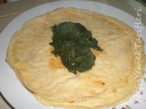 ıspanaklı krep tarifi, yemek tarifleri