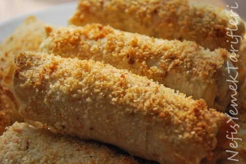 beşamel soslu tavuklu sigara böreği tarifi