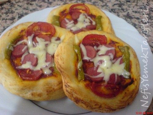 Tek Kişilik Pizza Tarifi Nefis Yemek Tarifleri