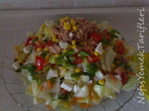 salata tarifi, ton balıklı salata