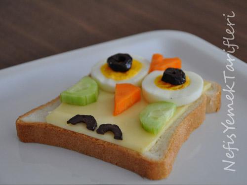 Çocuklar İçin Baykuş Sandviç Tarifi