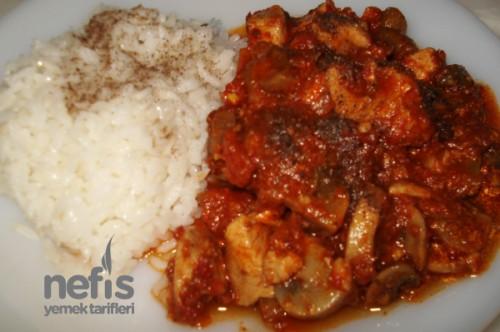 Tavuklu Mantarlı Yemekler Tavuklu Mantar Sote Tarifi