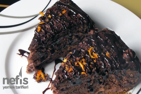 Portakallı Çikolatalı Kış Pastası Tarifi