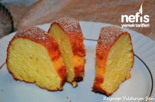 Portakallı kek 4