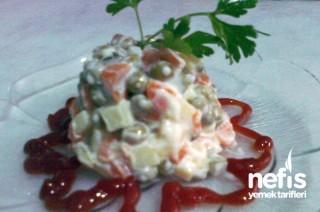 Rus Salatası Yapımı Tarifi