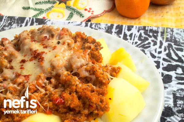 Bolonez Soslu Patates Tarifi