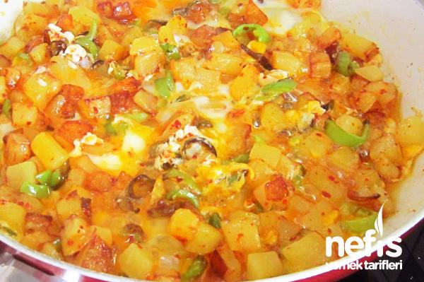 biberli patatesli yumurta
