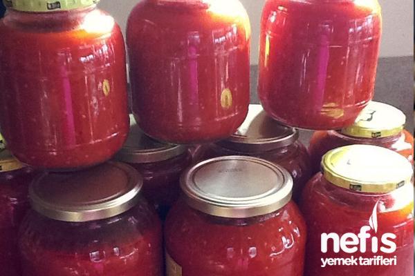 Ev yapımı domates konservesi 1