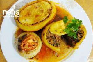 Fırında Patates ve Soğan Dolması Tarifi