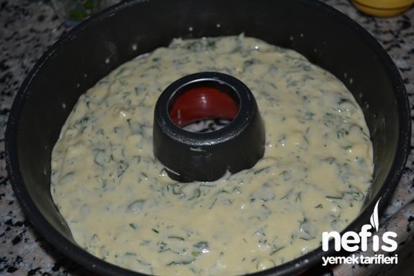 Ispanaklı Tuzlu Kek Tarifi 3