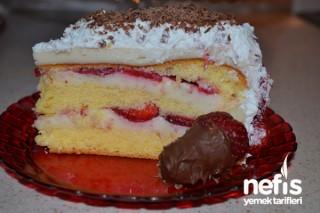 Çilekli Pasta Yapılışı Tarifi