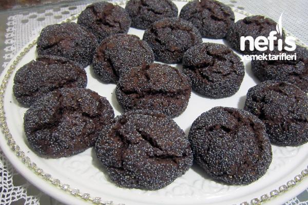 haşhaşlı ıslak kurabiye fotoğrafı