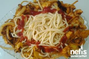 Karnabaharlı Tavuklu Spaghetti Tarifi