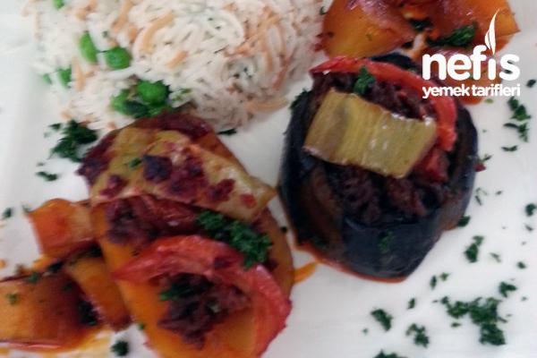Kıymalı Patlıcan ve Patates Yemeği Tarifi