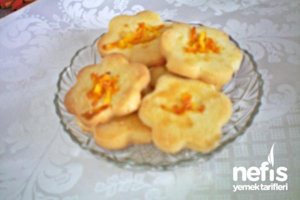 Portakallı Kurabiye Yapılışı Tarifi