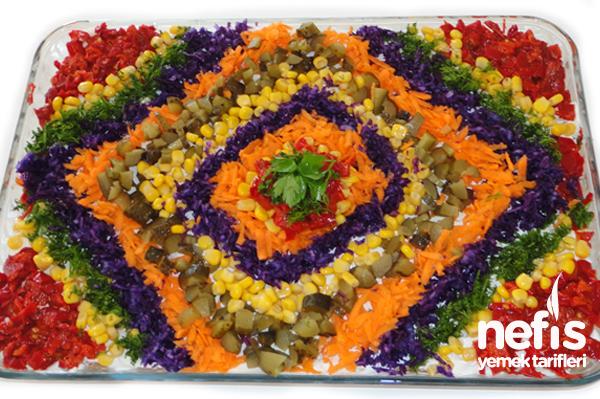 Tavuklu Yoğurtlu Etimek Salatası