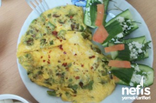 biberli omlet tarifi fotoğrafı