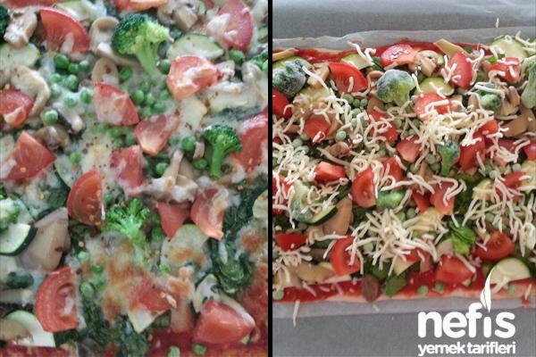 Ispanaklı Sebzeli Pizza Tarifi