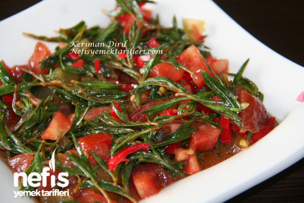 Zahterli (Taze Kekikli) Domates Salatası