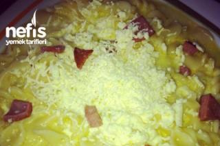 Salamlı Peynirli Makarna Tarifi