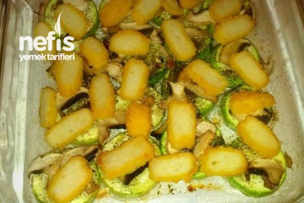 Tavuklu Kabak Yemekleri Mantarlı Tavuklu Fırında Kabak