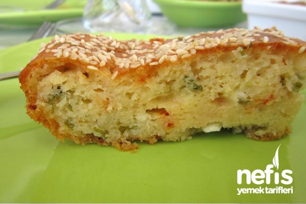 Peynirli Kek Tarifi Yapımı 2