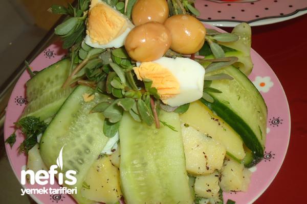 Salatalık Mantolu Patates Salatası Tarifi