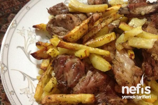Fırında Az Yağlı Patatesli Tavuk Tarifi
