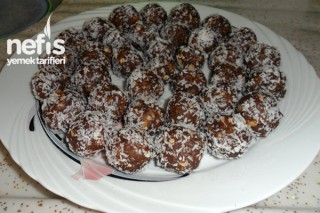 Kakaolu Bisküvi Topları Yapımı Tarifi