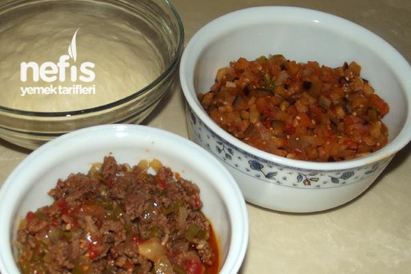 Patlıcanlı Domatesli ve Kıymalı Gözleme Tarifleri 1