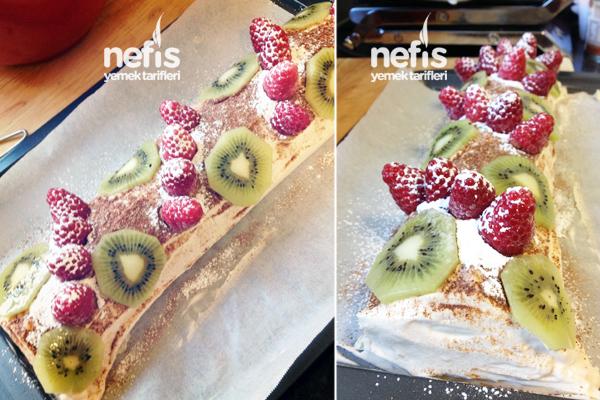 Karışık Meyveli Rulo Pasta Tarifi