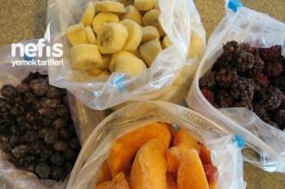 Mevsimlik Meyveleri Dondurma Tarifi