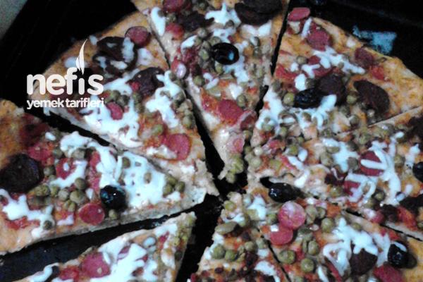 Ev Pizzası (Hazır Pizza Tadında) Tarifi