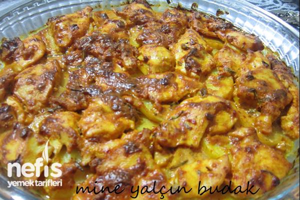 Fırında Kremalı Salçalı Tavuk-Patates 1