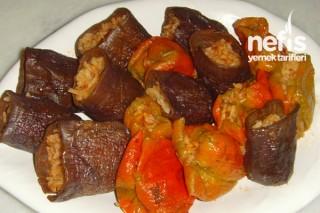 Kuru Patlıcan ve Biber Dolması Yapımı Tarifi