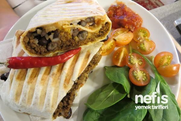 Lavaş ile Kıymalı Dürüm (Burrito) Tarifi