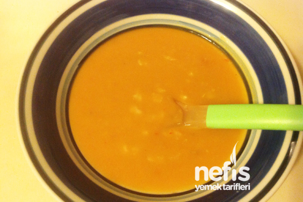Pirinçli Tarhana Çorbası (Bebekler İçin) Tarifi