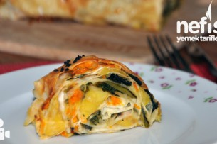 Üç Renkli Sebzeli Börek Videosu Tarifi