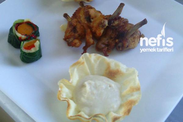 Beşamel Sos Eşliğinde Tavuk Pirzola Tarifi