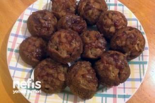 Elmalı Yaban Mersinli Alt-Üst Muffin Tarifi