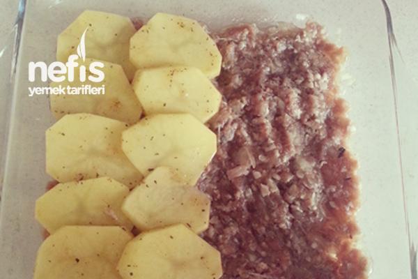 Fırında Köfteli Patates Dizme 2