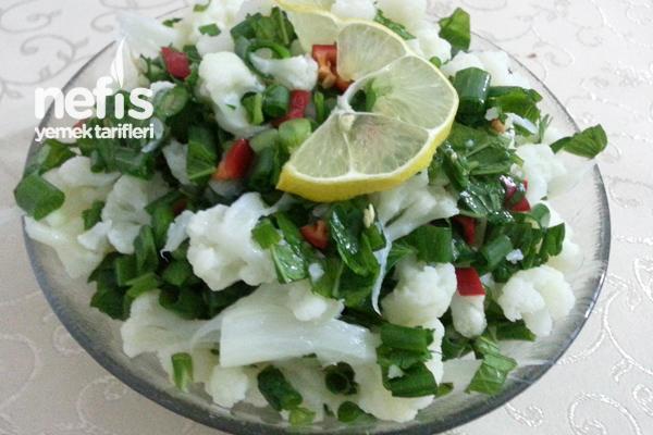 Karnabahar Salatası Yapılışı Tarifi