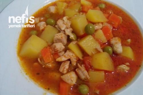 Tavuklu Bezelye Yemeği Yapılışı - Nefis Yemek Tarifleri