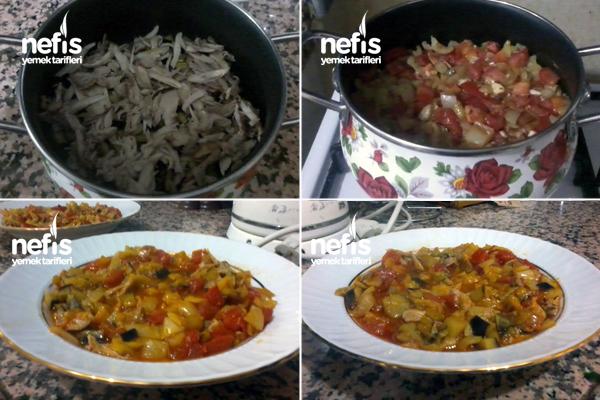 Tavuklu Patlıcanlı Yemekler Tavuklu Patlıcan Yemeği 1