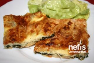 Ispanaklı Peynirli Tepsi Böreği Yapımı Tarifi