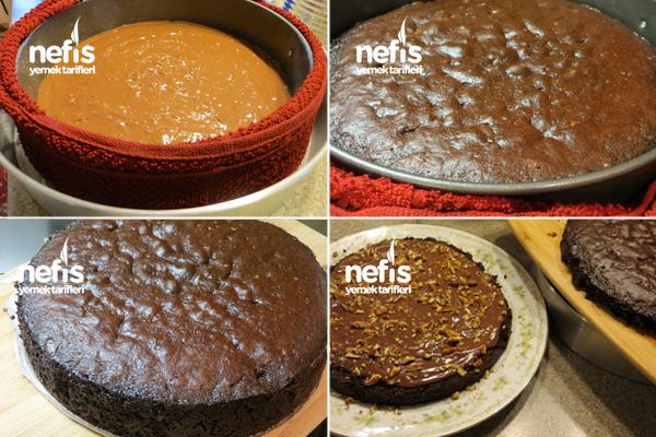 Pudingli Cevizli Çikolatalı Pasta 4