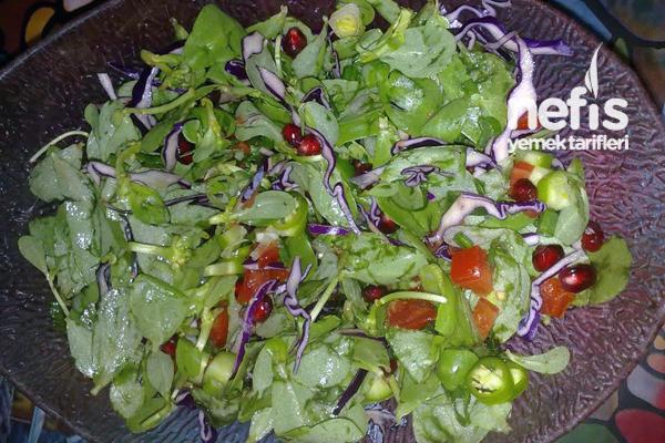 Semizotlu Karışık Salata Tarifi