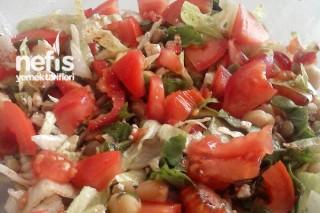Yeşil Mercimekli Diyet Salata Tarifi