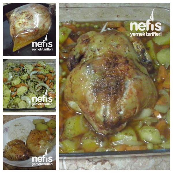 Garnitürlü Fırında Tavuk 1